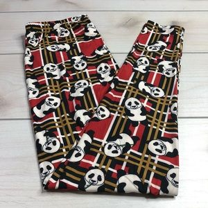 Pants - Plaid Panda 🐼 Leggings Super Soft, Plus Size NWT